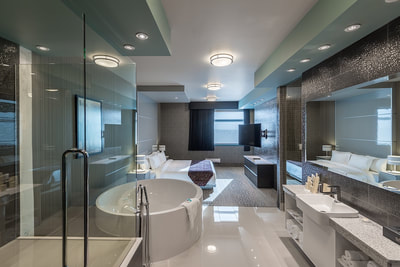 Bathroom at Applause Hotel by CLIQUE, Calgary Airport